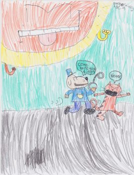 October Mintey, Age 9, Dogman & Petey