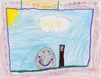 Solea Dixon Age 7, Stick and Stone